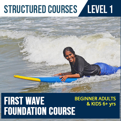 First wave Surfing course